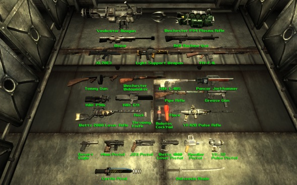 Fallout Weapons